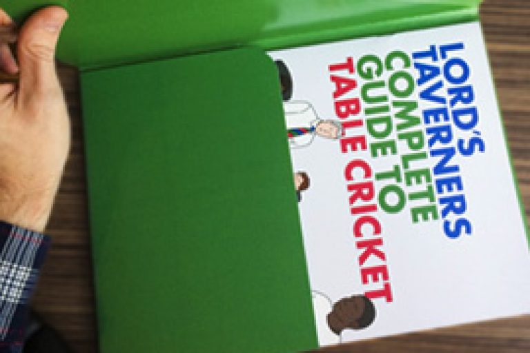 Lords Taverners Table Cricket Guide Book Design