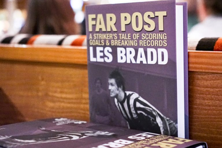 Les Bradd Nottingham Book Design Publication Football Far Post Terry Bowles Launch