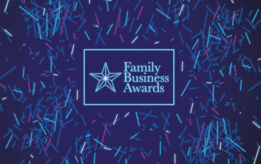 FBA Family Business Award 2017 Neon Confetti Design Graphic Style Programme Tickets Media